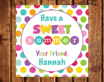 graphic about Have a Sweet Summer Printable named Products related in the direction of Contain a Lovable Summer months Printable Circle Tags