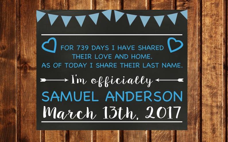 Adoption Day Adoption chalkboard sign Adoption card Adoption Printable Printable Foster to Adoption Announcement Adoption Gifts