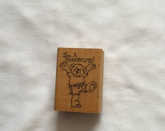 Gently Used Rubber Stamp - I'm A Possibility - Art Impressions