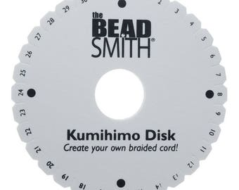 Kumihimo Braiding Disc by The Beadsmith, for round braiding,Jewely designs and illustrated instructions included, BK1953