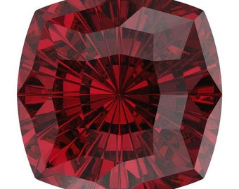 SWAROVSKI 4460 MYSTIC Square SCARLET Fancy Stone 14MM, Platinum-colored Pro Foiled (1 piece each)