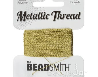Metallic Thread GOLD 2-Ply 25 yards Metallic Polyester,Made in USA