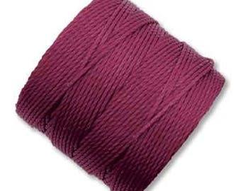 S-Lon Superlon #18 WINE Twisted Nylon Bead Cord 77 Yard Spool Bobbin