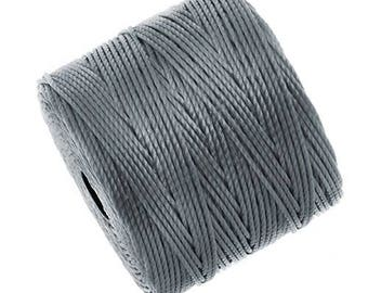 S-Lon Superlon #18 GREY Twisted Nylon Bead Cord 77 Yard Spool Bobbin