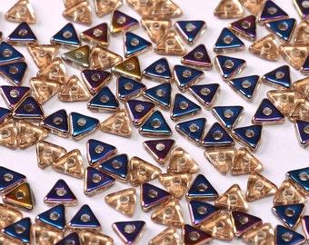 TRI BEAD Crystal Sliperit, 4mm Metallic Sliperit finish, 5 grams (approx 170 beads)