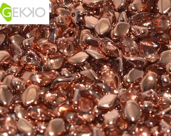 Gekko® Beads CAPRI GOLD Crystal, 3 x 5mm, 5 grams (approx 100 beads)
