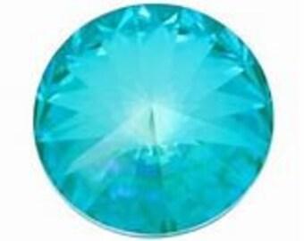 Swarovski LAGUNA DELITE Crystal: Chaton 1088/39ss - 6 or 12 pcs; Rivoli 1122/12 or 14mm - 4 pcs ~ Choose item and quantity from dropdown