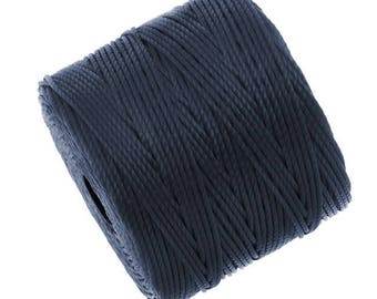 S-Lon Superlon #18 NAVY Blue Twisted Nylon Bead Cord 77 Yard Spool Bobbin