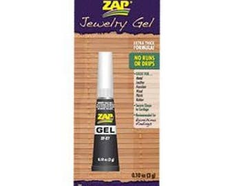 Zap Jewelry Gel for Kumihimo braiding, Jewely design, 3 grams (.10 ounce), prepackaged, tube