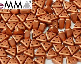 eMMA® Bead Alabaster Metallic Bronze, 3x6 mm, 50 beads