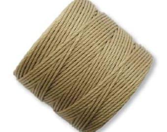 S-Lon BRONZE Superlon #18 BRONZE Twisted Nylon Bead Cord 77 Yard Spool Bobbin