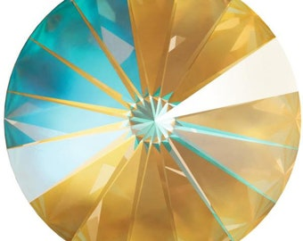 Swarovski OCHRE DELITE Crystal: Chaton 1088/39ss - 6 or 12 pcs; Rivoli 1122/12 or 14mm - 4 pcs ~ Choose item and quantity from dropdown