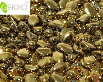 Gekko® Beads Crystal Amber, 3 x 5mm, 5 grams, (approx 100 beads)