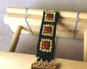 ENDLESS LOOM™, Beading Loom, Wrap bracelet, Portable Travel Size, Easy to Assemble, Travel Roll up Case
