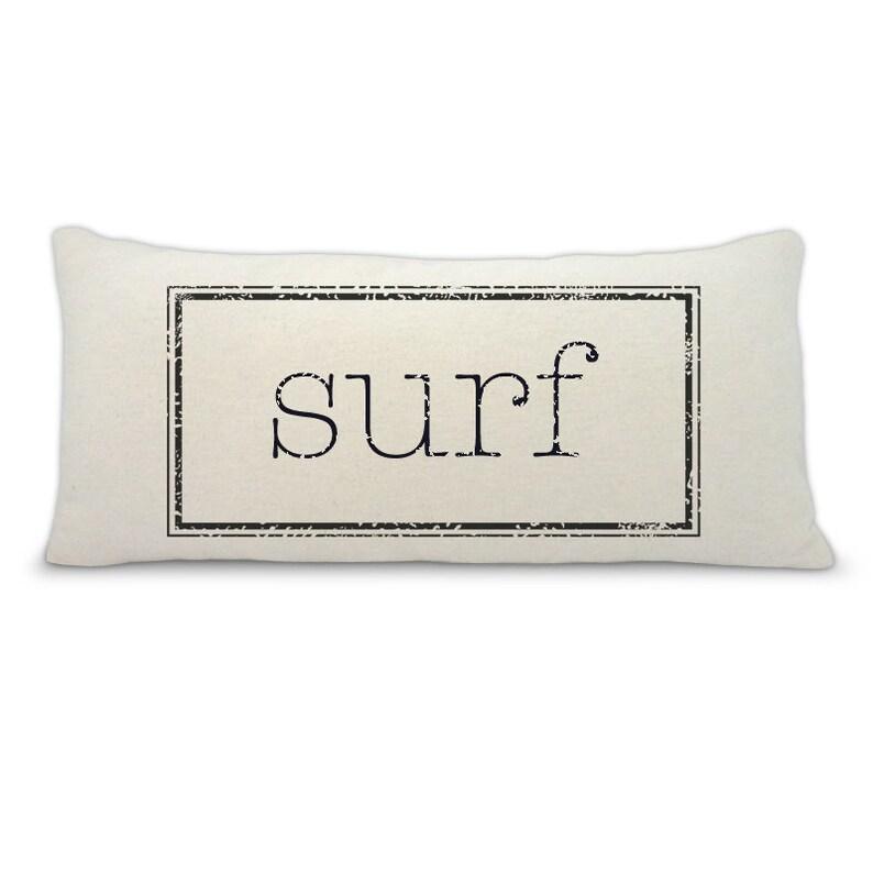 Custom pillow surf pillow personalized pillow beach house  0ecfe8e6a
