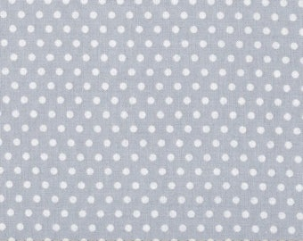 Crib (only), light grey skirt with polka dots