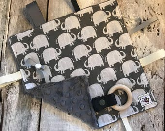 baby 'Rikiki' blanket, elephants