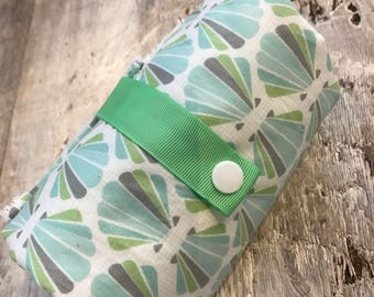 waterproof changing mat, Changing pad, blue and green shell