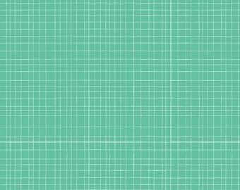 (Only) crib skirt, green mesh (turquoise, mint)