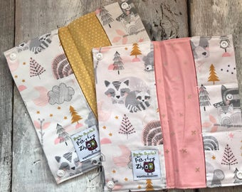 Protects health, animal forest gray/pink/mustard, pink or mustard Interior