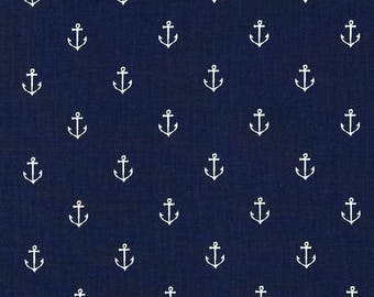 crib fitted sheet, baby bed sheet, white anchors on navy