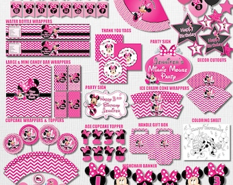 SAME DAY SVC Minnie Mouse Birthday Decorations