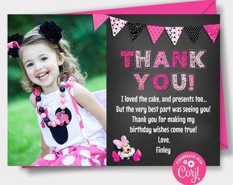Purple Minnie Glitter Note Cards /& Address Labels