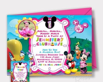 Mickey Mouse Clubhouse Invitation Etsy