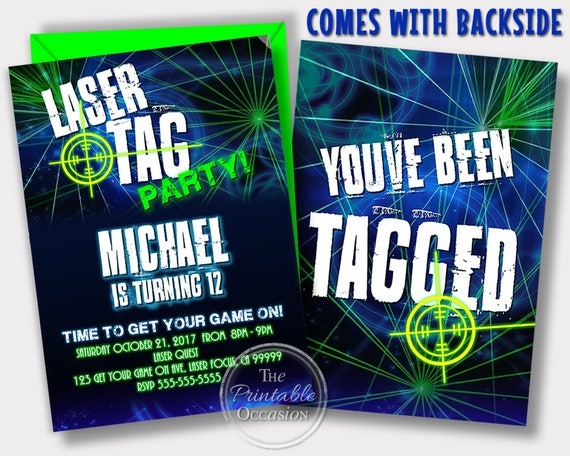 photograph about Printable Laser Tag Birthday Invitations identify Exact Working day SVC Laser Tag Invitation, Laser Tag Birthday