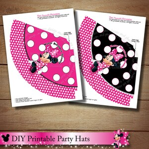 Light Pink Polka Dots Personalized Minnie Mouse PRINTABLE Centerpiece Set Any Age DIY Minnie Mouse Centerpiece Printables