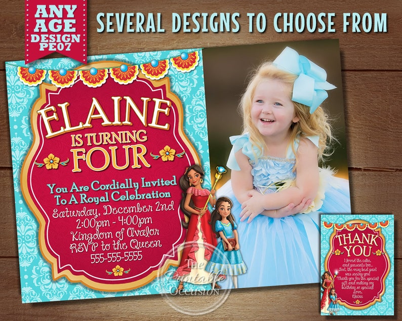 Princess Elena Invitations Of Avalor Birthday
