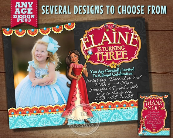 Princess Elena Invitation Of Avalor Birthday