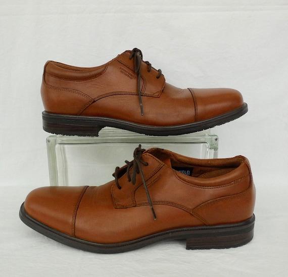 BROWN Captoe OXFORDS Mens ROCKPORT Brown Leather S