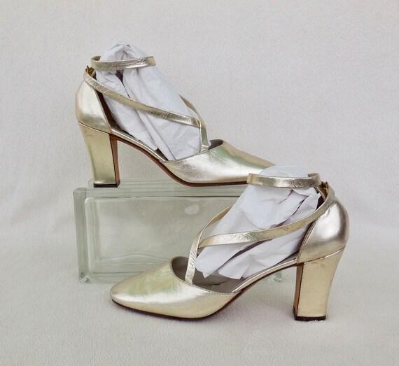 60s HIGH Heels ROGER VIVIER Silver Lame High Heels