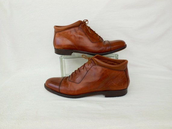 Mens ANKLE Boots JOHNSTON MURPHY Brown Leather Boo