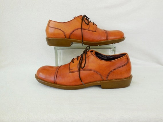 VINTAGE Leather OXFORDS CAPPELLETTI Mens Italian S