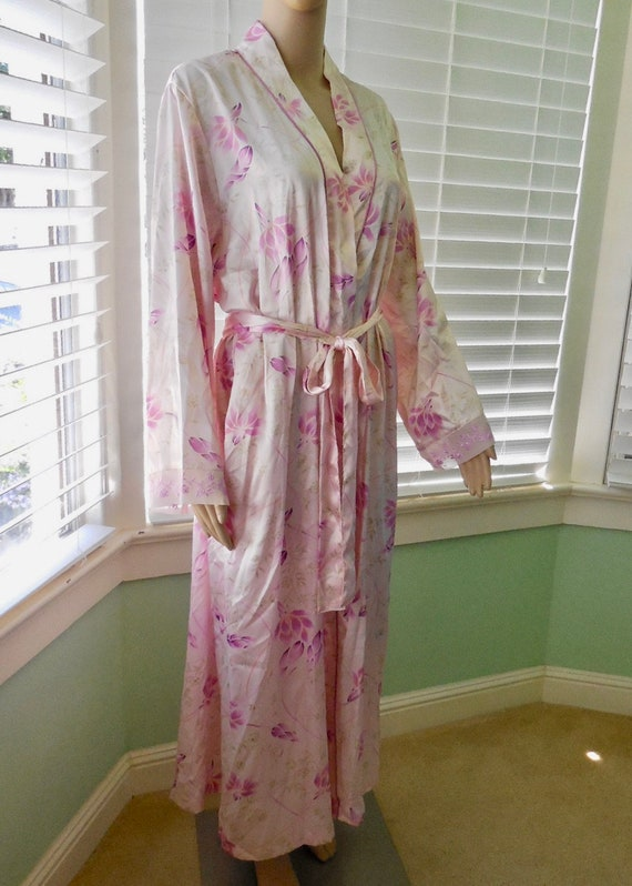 Pink FLORAL Robe MORGAN TAYLOR House Robe Full Len