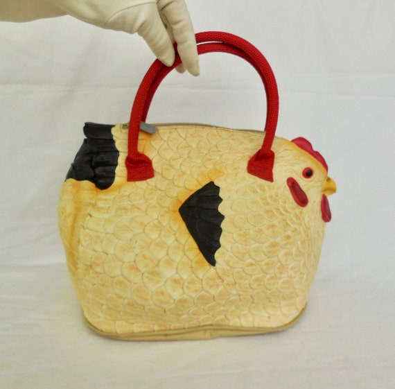 HEN BAG Rubber Hen Purse Chicken Bag Chicken Handb
