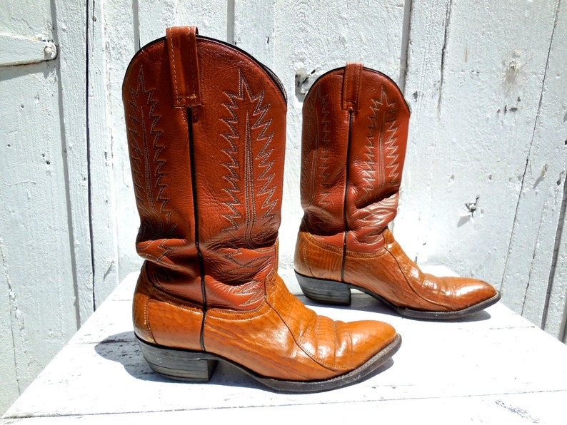 741eecd48dd Vintage COWBOY BOOTS/Mexican Cowboy Boots/Riding Boots/Western  Boots/Rockabilly Boots/Rugged Rustic Grunge/Distressed Cowboy Boots/Men 9.5  D