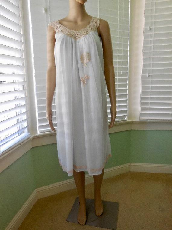 88320c9866 Vintage CHIFFON BABYDOLL ARISTOCRAFT Chiffon Nightgown 60s