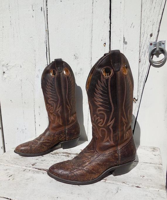 COWBOY BOOTS Mens BOULET Cowboy Boots Tall Stovepi