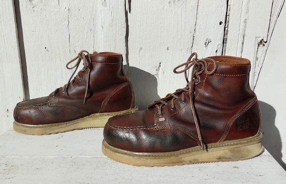 STEEL Toe Boots TIMBERLAND Mens Distress Leather B