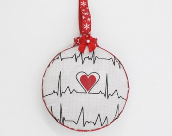 Healthcare Workers Ornament, Nurse Ornament, First Responder Ornament, Essential worker Ornament, Frontline Worker Gift, Heartbeat Ornament