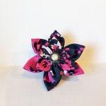 Pink Camo Fabric collar flowers, Military Dog collar Flower,  Collar Flower, Pink digital collar bow, Dog collar bows, Pink camo Flower