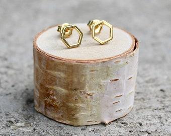 Multi-Pack Earrings rose earrings pastel pink earrings hexagon earrings everyday earrings gift polymer clay studs geometric earrings