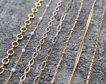 Simple Gold Layering Chain // Thin Gold Decorative Choker // Dainty Minimal Necklace // Bridesmaids Jewelry // Delicate Gold Chain // Gift