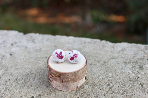 tamaño 21 diámetro 13mm Los botones de Rosa Floral Pretty blanco y rosa Precio por 5
