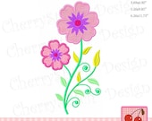 Flowers Vintage flowers Machine Embroidery Design SPR34 - for 5x7,6x10 and 7x12 hoop