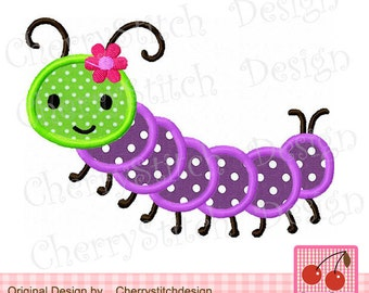 Hungry Caterpillar Embroidery Design Etsy
