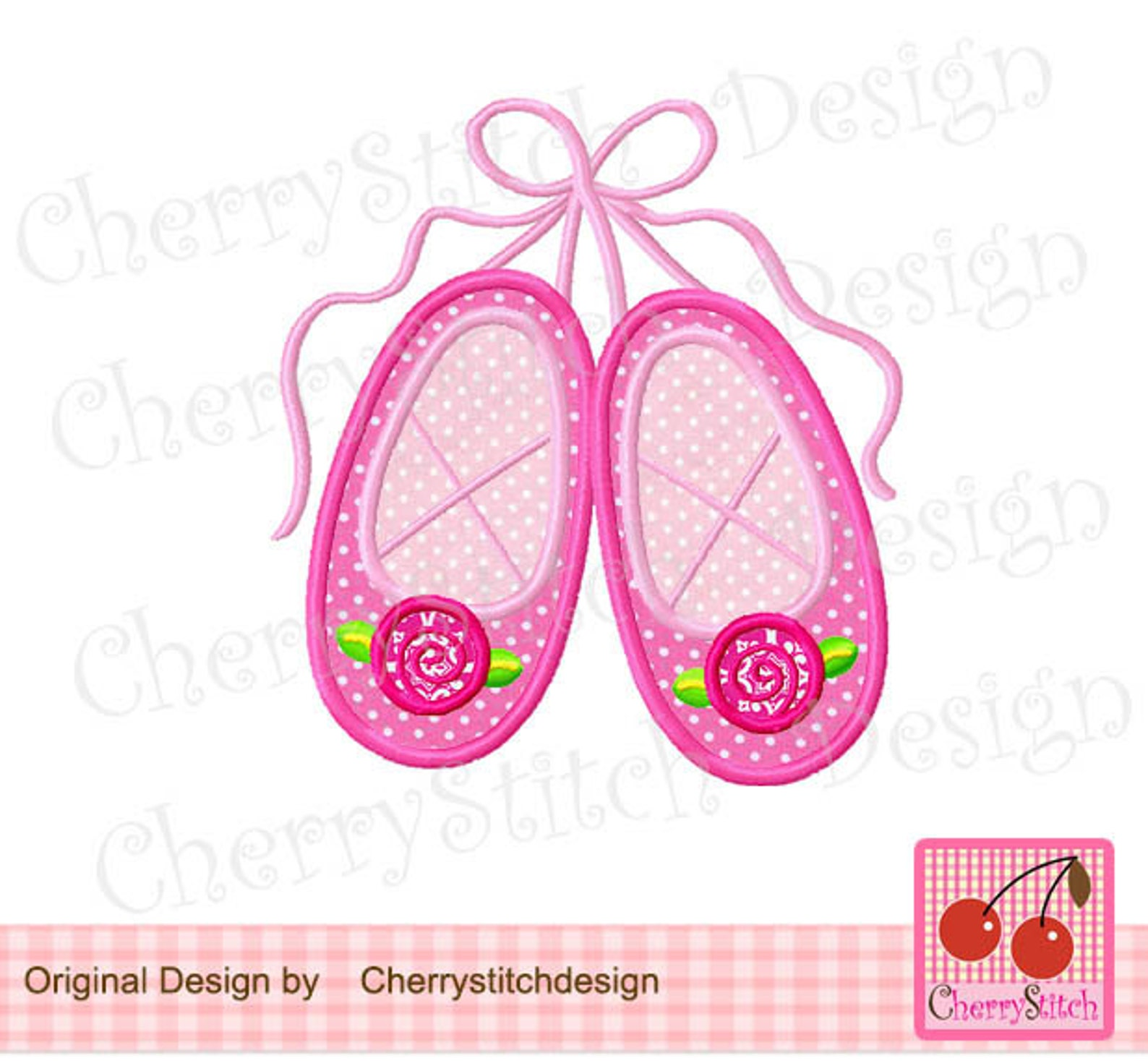 ballet slippers machine embroidery applique design-4x4,5x5, 6x6 inch